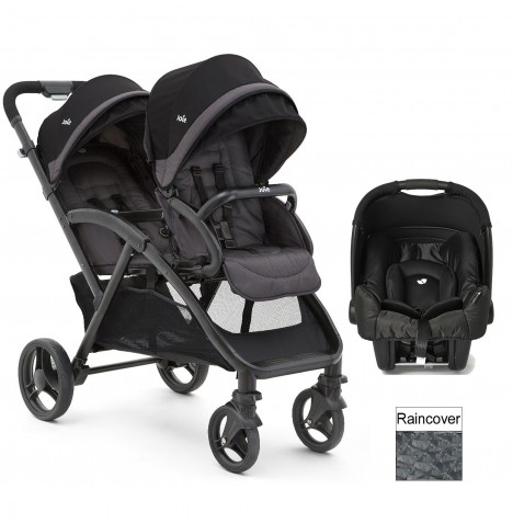 Joie Evalite Duo Tandem Travel System (Gemm) - Black