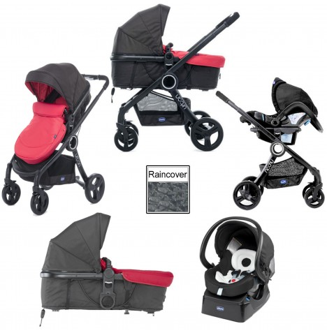 Chicco Urban Plus Travel System - Red Passion