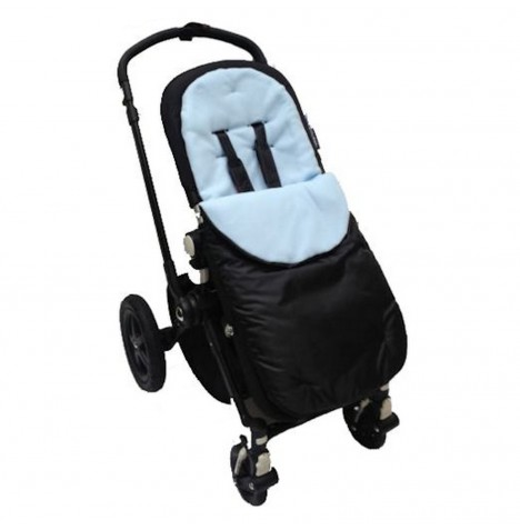 4Baby Shower Proof Fleece Pushchair Footmuff - Blue..