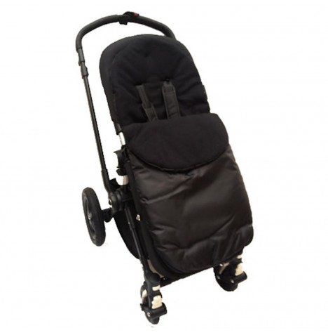 4Baby Shower Proof Fleece Pushchair Footmuff - Black