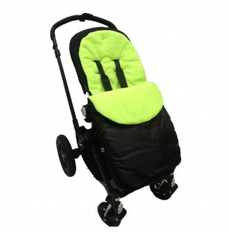 4Baby Shower Proof Fleece Pushchair Footmuff - Lime..
