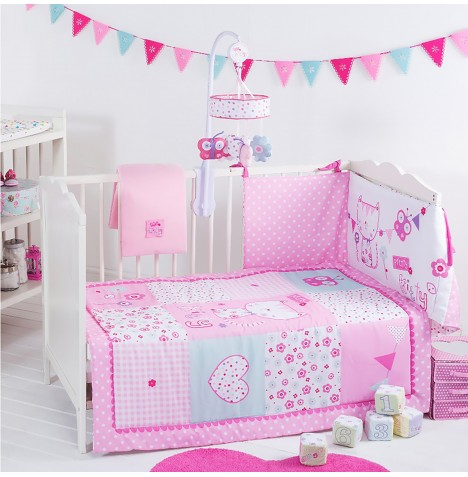 Red Kite 4 Piece Pretty Kitty Cosi Cot / Cot Bed Bedding Set