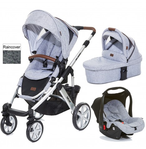 ABC Design Salsa 4 Travel System & Carrycot - Graphite Grey