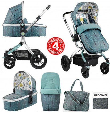 Cosatto Ooba 3 in 1 Combi Pram / Pushchair - Fjord