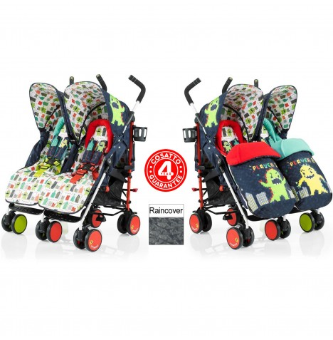 Cosatto Supa Dupa Twin Stroller - Monster Arcade