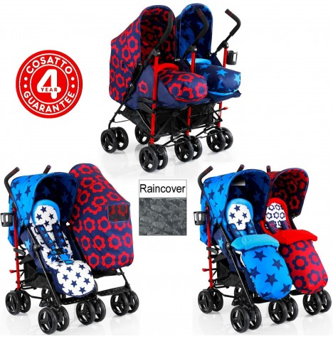 Cosatto To & Fro Twin Stroller - Hotchpotch