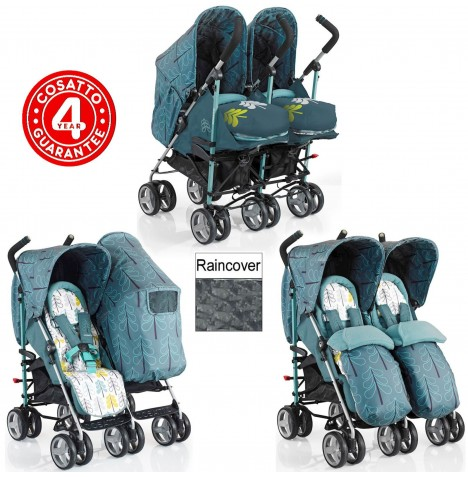 Cosatto To & Fro Twin Stroller - Fjord