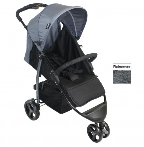 Red Kite Push Me Metro Stroller - Grey