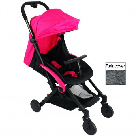 Red Kite Push Me Cube Pushchair Stroller - Hot Pink