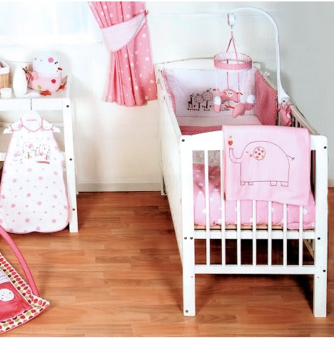 Red Kite Hello Ernest 4 Piece Cosi Cot / Cot Bed Bedding Set - Pink