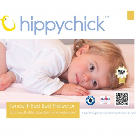 Hippychick Childs Waterproof Single Mattress Protector (Fitted Tencel Sheet) - White