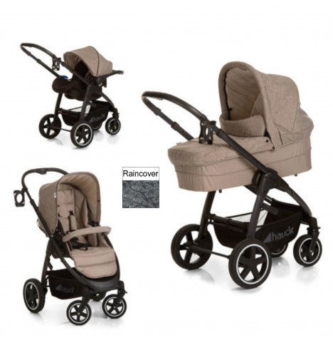 Hauck Soul Plus Trio Set Travel System - Melange Beige / Sand