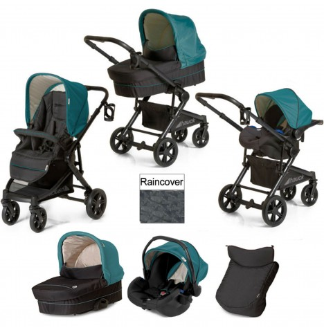 Hauck Atlantic Plus Trio Set Travel System - Everglade