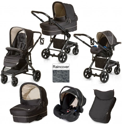 Hauck Atlantic Plus Trio Set Travel System - Caviar