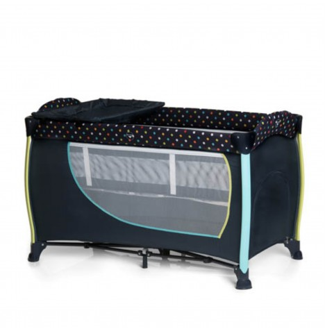 Hauck Sleep n Play Centre II Travel Cot - Multi Dots Navy