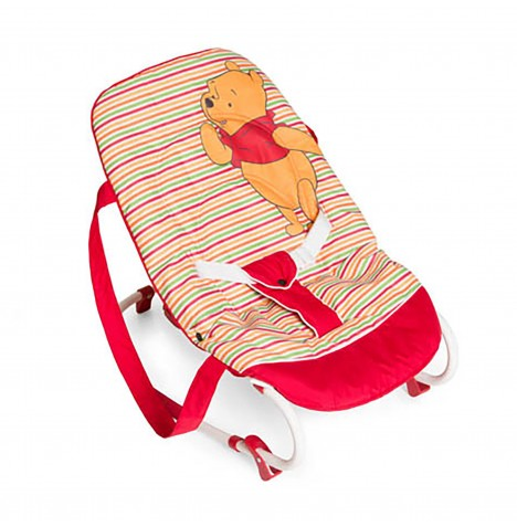Hauck Disney Rocky Deluxe Baby Bouncer - Pooh Spring Brights Red