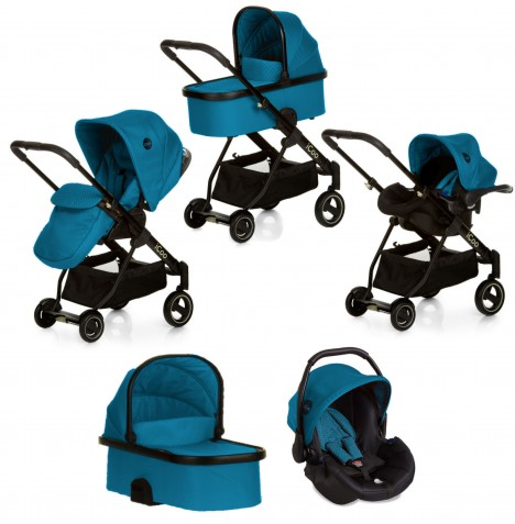 Hauck Icoo Acrobat XL Plus Trio Set Travel System - Diamond Sapphire
