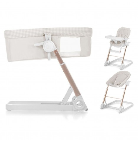 Hauck Icoo Grow With Me 3 in 1 Crib / Highchair / Rocker - Diamond Beige