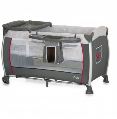ICoo Starlight Travel Cot - Bug Grey