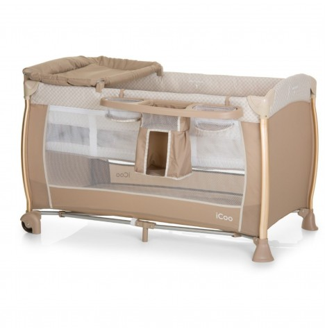 Hauck Icoo Starlight Travel Cot - Diamond Beige
