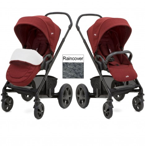 Joie Chrome DLX Pushchair (inc Footmuff) - Cranberry