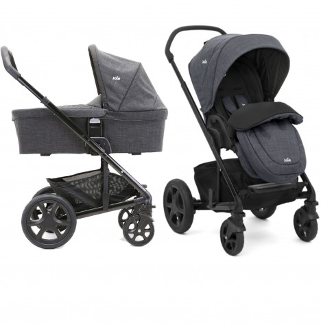 Joie Chrome DLX Pushchair (inc Footmuff) & Carrycot - Pavement
