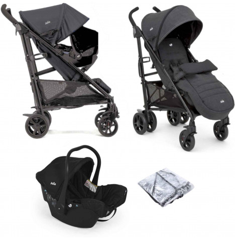 Joie Brisk LX Travel System with Juva Car Seat & Footmuff - Pavement