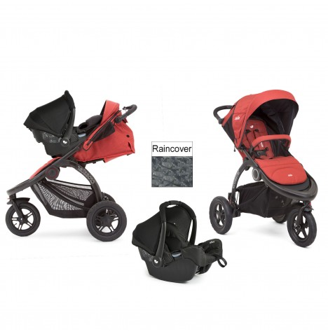Joie Crosster 3 Wheeler (Gemm) Travel System - Rust
