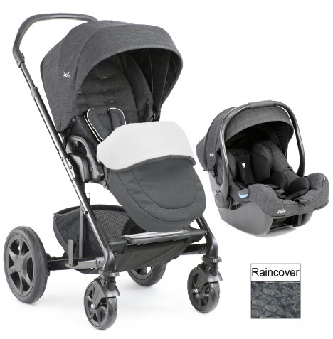 Joie Chrome DLX (i-Gemm) Travel System (inc Footmuff) - Pavement