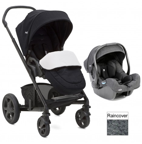 Joie Chrome DLX (i-Gemm) Travel System (inc Footmuff) - Navy Blazer