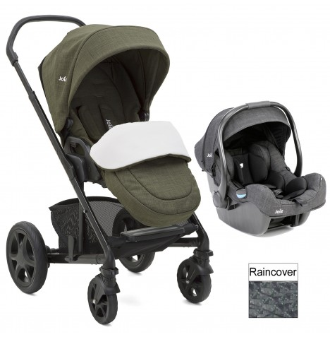 Joie Chrome DLX (i-Gemm) Travel System (inc Footmuff) - Thyme
