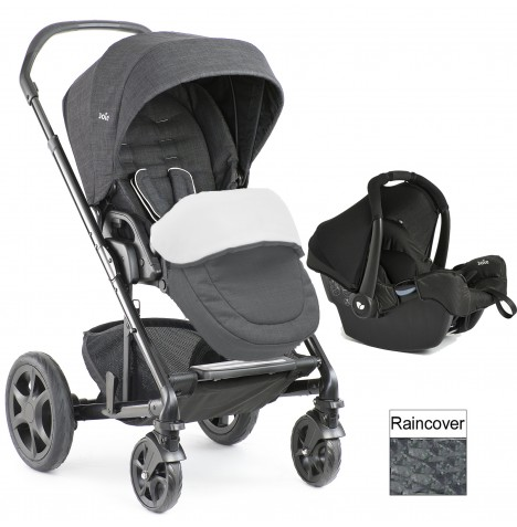 Joie Chrome DLX (Gemm) Travel System (inc Footmuff) - Pavement