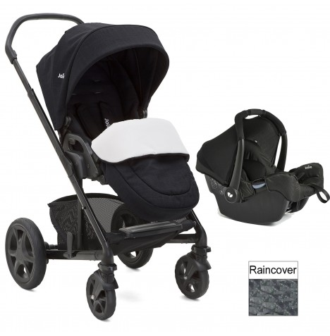 Joie Chrome DLX (Gemm) Travel System (inc Footmuff) - Navy Blazer
