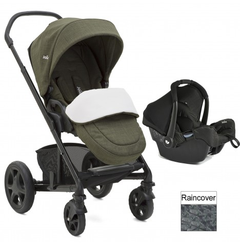 Joie Chrome DLX (Gemm) Travel System (inc Footmuff) - Thyme