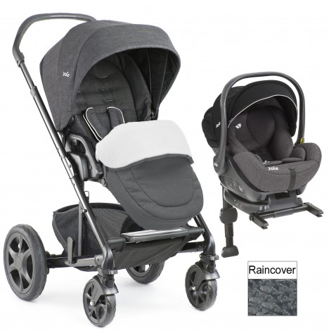 Joie Chrome DLX (i-Level) Travel System (inc Footmuff & ISOFIX Base) - Pavement