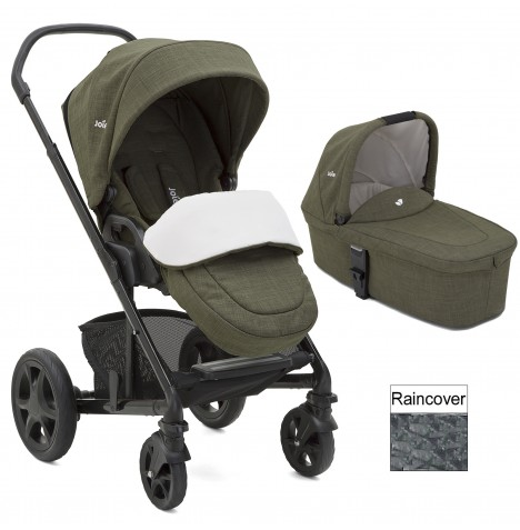Joie Chrome DLX Pushchair (inc Footmuff) & Carrycot - Thyme