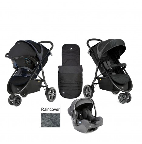 Joie Litetrax 3 (iGemm) Travel System - Midnight