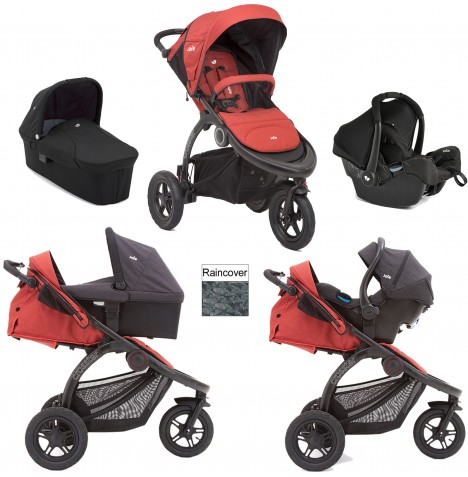 Joie Crosster Carrycot (Gemm) Travel System - Rust