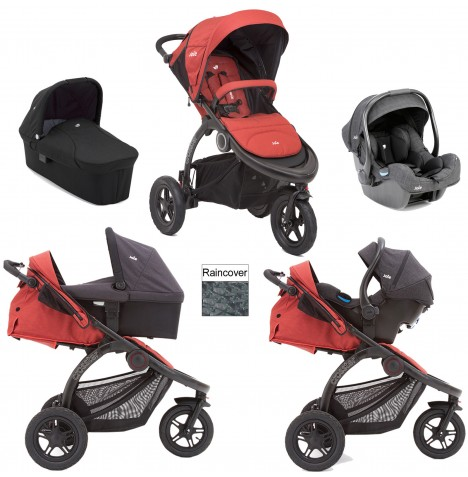 Joie Crosster Carrycot (iGemm) Travel System - Rust