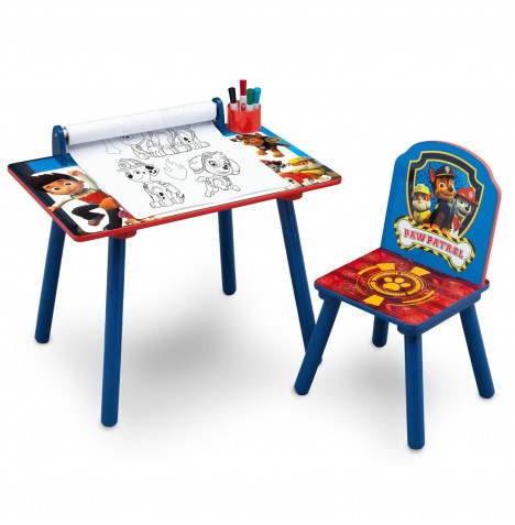 Delta Children Activity Desk & Chair (With Paper Roll) - Paw Patrol