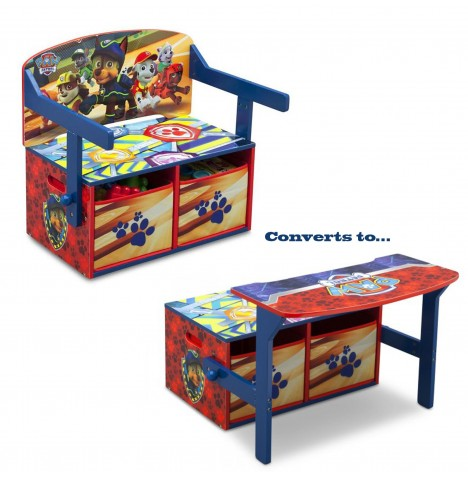 New Delta Children Paw Patrol Convertible Bench Desk