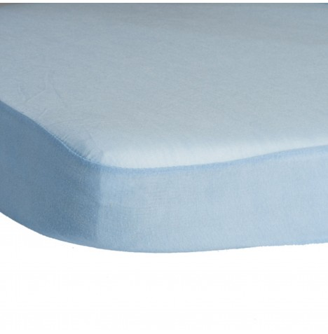 Hippychick Childs Waterproof Cot Mattress Protector (Fitted Tencel Sheet) 120 x 60cm - Pale Blue