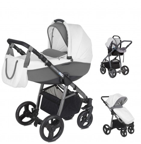 Mini Uno Stride Pram Travel System - Cloud