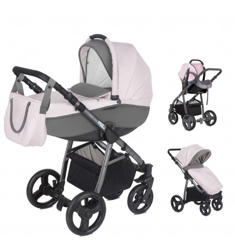 Mini Uno Stride Pram Travel System - Candy Pink
