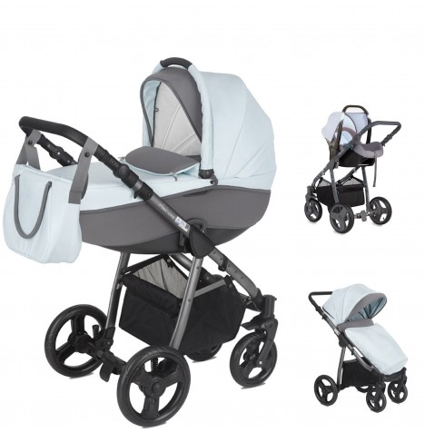 Mini Uno Stride Pram Travel System - Sky