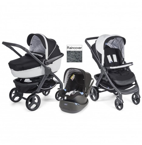 Chicco Trio Style Go Travel System - Black Night