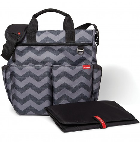 Skip Hop Duo Signature Changing Bag - Tonal Chevron