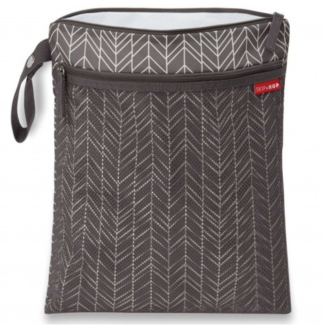 Skip Hop Grab & Go Wet / Dry Bag - Grey Feather