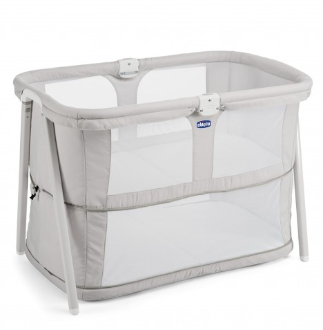 Chicco Lullago Zip Crib / Baby Bed - Light Grey