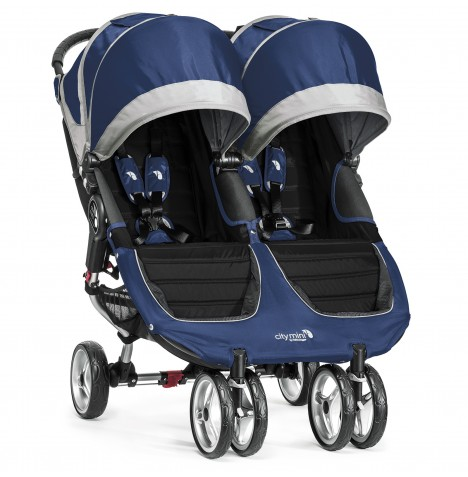 New Baby Jogger City Mini Double Stroller - Cobalt / Grey